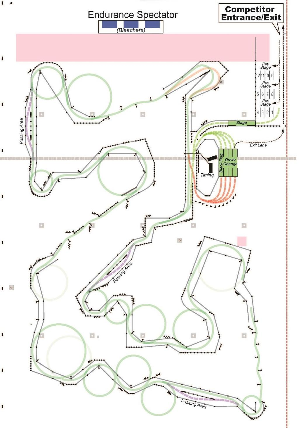 ENDURANCE LAYOUT Course is