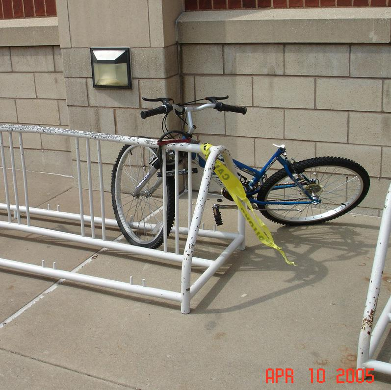 BAD BIKE RACKS Racks that cradle only the front