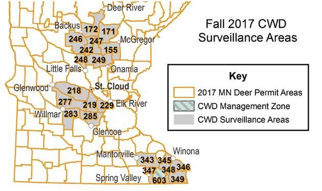 Chronic wasting disease management zone DPA 603 DPA 603 (CWD management zone) The intent of management strategies in the CWD management zone (deer permit area 603) is to increase hunting