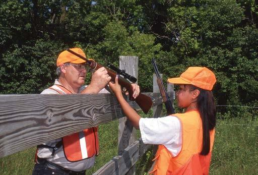Safety Instructor Teaching hunter