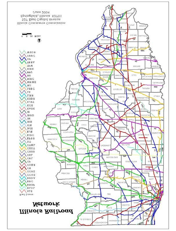 Illinois - High Density Railroad Traffic Nation s largest rail hub 50 Railroads/1,500 Trains Illinois ranks second only to Texas in the number of public crossings (7,795) and