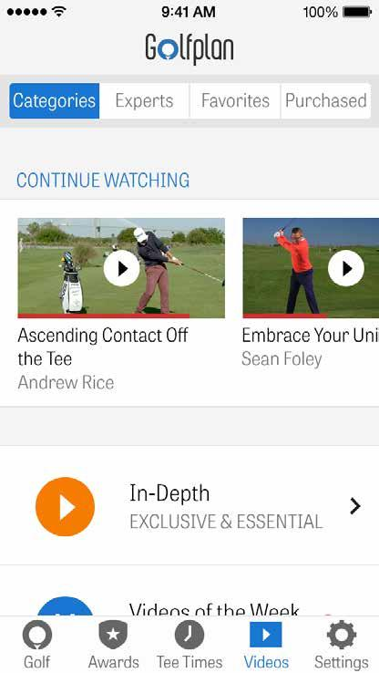 GOLFPLAN Powered by Revolution Golf s extensive and dynamic video library with experts like Martin Chuck, Sean Foley, Andrew Rice, and Don Saladino, Golfplan gives you a front-row seat to the best