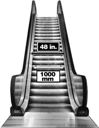 Ever wonder why a 48RB escalator has only a 40-in. wide step? Escalators are designated by either a metric measurement, an imperial measurement, or both.