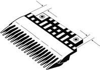 : Combs Combs for New York Code Retrofit ONLY Part No. Escalator Type Comb Width Description Notch AAA453AF1 32 & 48 R 6 in.
