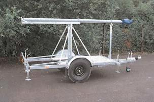 Pneumatic Mast Trailers SMC manufacture a standard range of on and off road trailers, capable of supporting masts up to 30 metres high to their maximum wind speed capability and special units