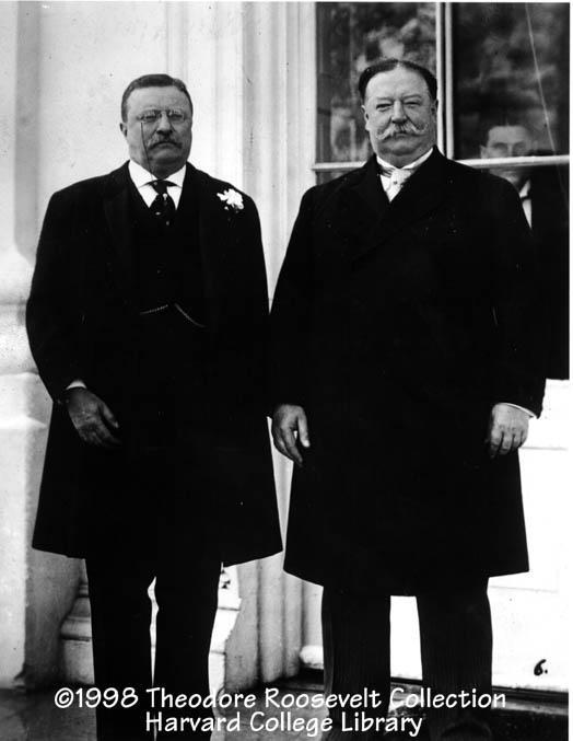 Roosevelt Hand Picks Taft Theodore Roosevelt with incoming