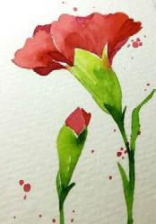 12 PM till 3 PM and learn how to paint a bluebird and a carnation. Marylou Convery will demonstrate how to build color washes using a darker value of each color.