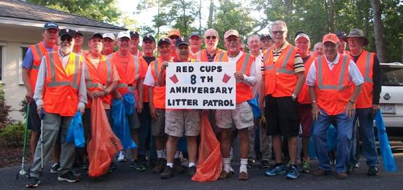 Red Cups Celebrate 8th Anniversary Litter Patrol Rich Opie Nofi On Saturday, June 3rd, twenty-five Cups got together to pickup litter from alongside Little River Neck Road; marking the 96th month