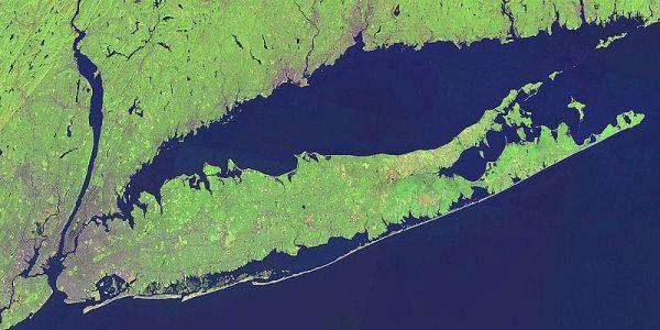 "Seawalls Google image of Long Island with multiple barrier islands Responses to Erosion When coastal buildings or roads are threatened, usually the first suggestion is to ""harden"" the coast with a"
