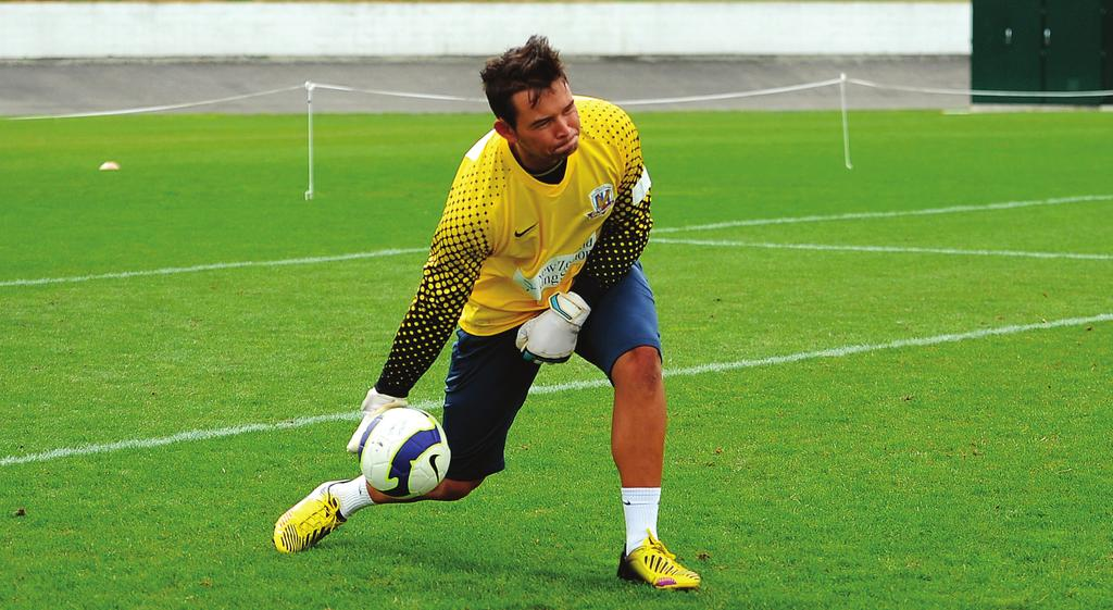 INTRODUCTION TO GOALKEEPING COACHING Distribution from the feet In the modern game, goalkeepers are required to be as good with their feet as they are with their hands.