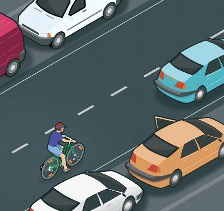 Recognise hazards Motorist fails to notice the cyclist A motorist approaching a junction from behind a yield sign is about to make a right turn, and