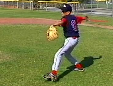 Dry Run Pitching Drill (continued) 5 Phase 3: Separation and Stride After the stride leg reaches its highest point of elevation, the pitcher will separate his hands in a thumbs down position, while