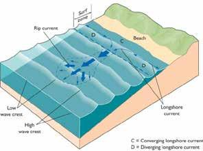 shore-parallel current called a longshore current is generated in