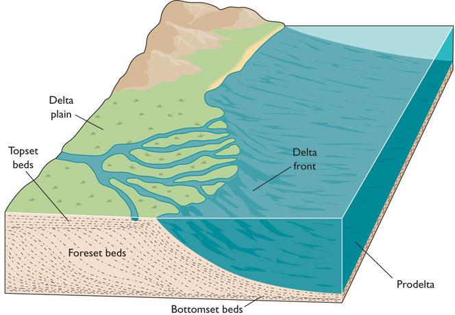 A Delta Is an Accumulation of Sediment Deposited at the Mouth of a River as it Flows into a Standing Body of Water Deltas were named after the Greek letter delta Δ.