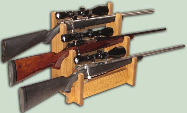 * TC35 Tabletop Rifle Display - Made of solid pine.