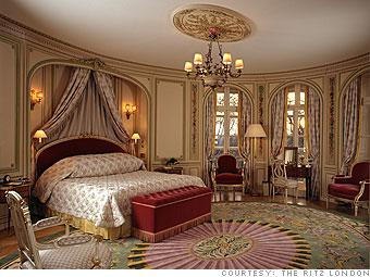 Vacation Twelve-day European tour: $36,097, plus expenses and airfare. A single night in the Royal Suite at The Ritz London costs a whopping $5,863.