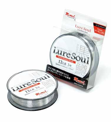 Kuromasu A new product from the LureSoul brand dedicated to lure fishing. The extra-strong, extra-abrasion-resistant MIJ nylon enables anglers to cast into complex structures and tackling big prey.