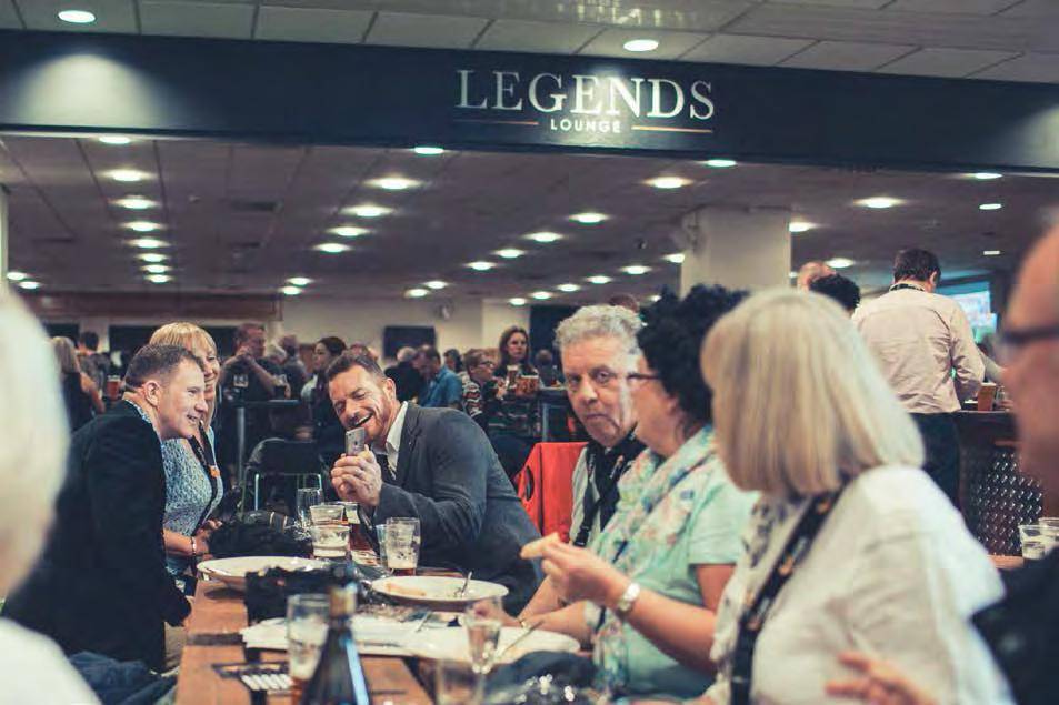 Combining the thrill of being in the heart of the action with relaxed hospitality, the Legends Lounge will