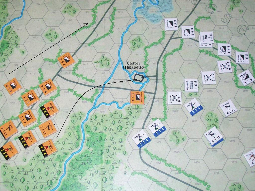 Pavia: Climax of the Italian Wars Turn Two: 7:00 am The field has cleared of the fog and mist. This will remain the case for the rest of the game.