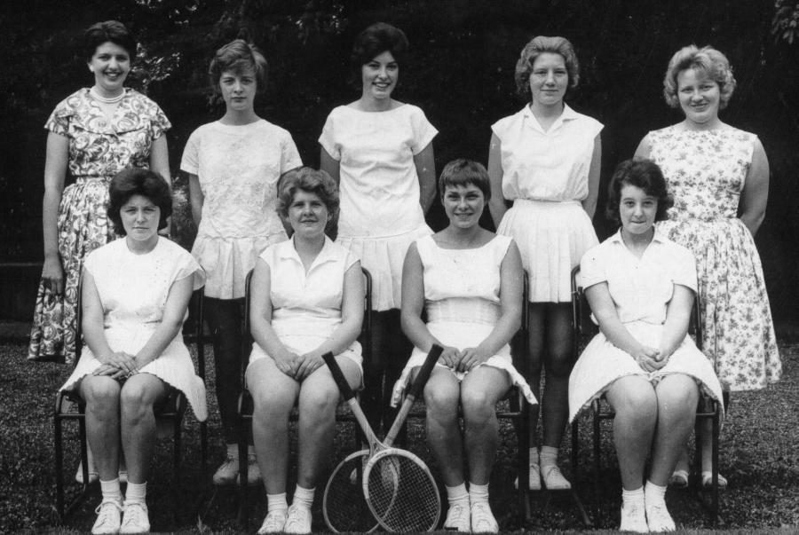 Tennis 2 nd Team Photo contributed by Judith Gunhouse. Thank you, Judith. Back Row L-R: Mrs. Williams (Miss Hitchcock), L.