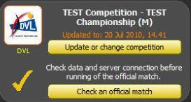 CHECK AN OFFICIAL MATCH (Not present in Italian championships) To