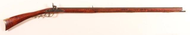 "Page: 36 217 CR - Stevens Model 75.22 Cal. Pump Action Rifle. CR - Stevens Model 75.22 Cal. Pump Action Rifle. 24"""" round tapered barrel, tube magazine, walnut fore-end and stock. SN-9683."