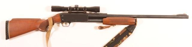 "32"""" vent rib barrel with ejector, engraved frame, checkered walnut fore-end and stock. SN-352041. Condition: Very good, former owner's name engraved on bott 219 R - Interarms M 62.22 LR Cal."