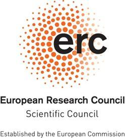 ERC SCIENTIFIC COUNCIL 42 nd PLENARY MEETING, UTRECHT 22-23 October 2013 MINUTES Scientific Council members present (in alphabetical order): Prof. Klaus BOCK, Prof. Nicholas CANNY, Prof.