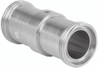 Siemens AG 007 Remote seals for transmitters and pressure gauges Inline diaphragm seal with quick connection Inline diaphragm seal with quick connector, DIN 11851 with thread Dimensions (connection
