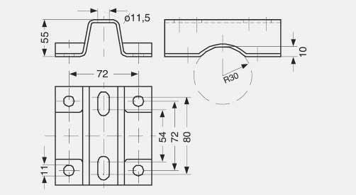 Fittings -, 3- and 5-spindle valve manifolds DN 5 Siemens AG 007 Dimensional drawings ¼-18 NPT 55 C 63.5 41.3 B ½-14 NPT A M10 Ø1 54 68 18 31.