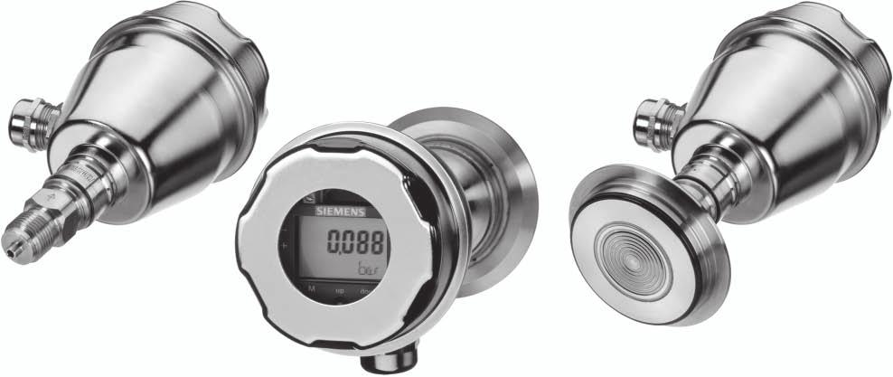 Siemens AG 007 Transmitters for gage and absolute pressure SITRANS P300 Overview The SITRANS P300 is a digital pressure transmitter for gage and absolute pressure.