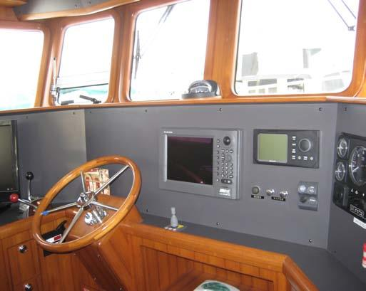 Pilothouse Room with a view Command central at sea Never to large Excellent for dockside dinners overlooking the city or just watching