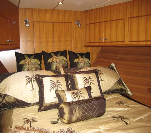 Owners Stateroom Comfort is key Walk around queen size bed w/ excellent mattress Hanging locker space Never too much Below bed