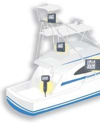 Exclusive FishHunter feature guides your vessel in orbit, figure eight or spiral maneuvers around fish
