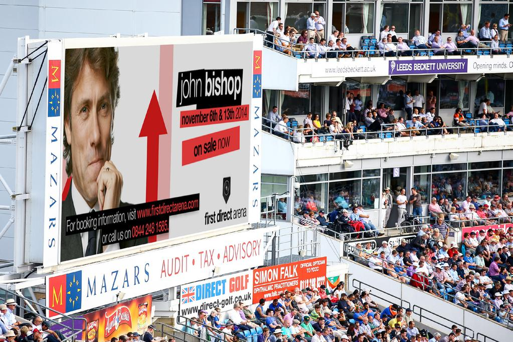REPLAY SCREEN ADVERTISING Natwest T20 Blast 500 + VAT Royal London One Day Cup 250 + VAT County Championship 100 + VAT