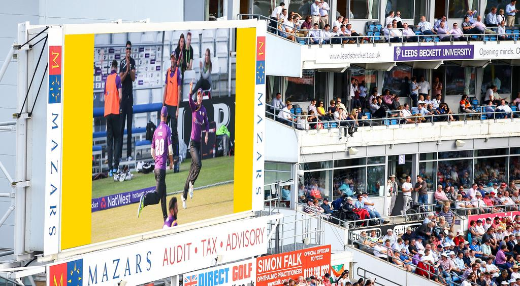 LIVE ACTION REPLAY SPONSOR Sponsorship of the Live Action Replay Screen for any non-televised NatwestT20 Blast fixture