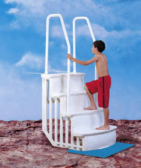 NOTE When a Ladder is installed it is recommended that a Step Mat should be installed underneath. THIS ITEM IS SOLD SEPARATELY. All pool ladders are required to be secured to the frame of the pool.