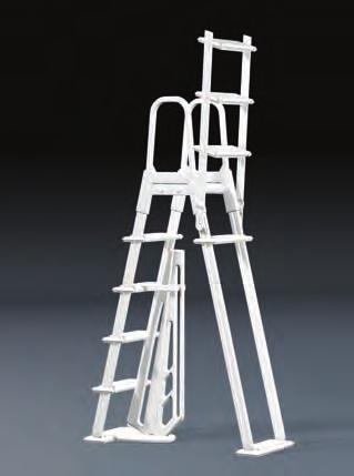 WARNING Exceeding the recommended weight limit may cause the step to fail and may result in injury. LADDER SWINGS UP AND LOCKS IN PLACE NOTE You have purchased a Flip-up Safety Ladder.