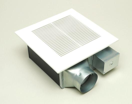 "costructio 4"" duct with 3"" duct adapter icluded ighted model features a flush mout grille with (2) 13W L self-ballasted GU24 base CFL lamps Fa model FV-08-11VFM5 icorporates a SmartActio Motio"
