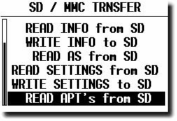 The card structure: Use Windows copy commands to carry data from hard disc to the SD card. Respect that the individual files should be copied into corresponding folders. 4.