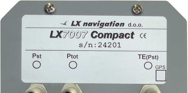 5.2 Installation of LX 7007 Compact The system consists of 80 mm main unit and 57 mm Vario indicator