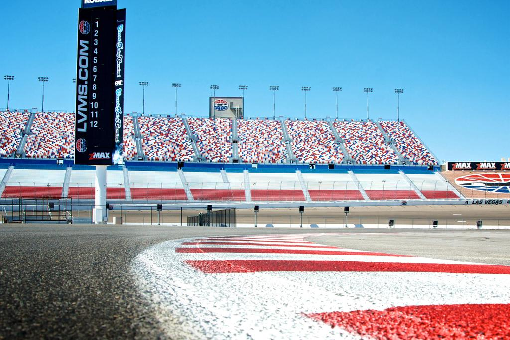 Inside Road Course 1.2 - Miles 9 - Turns 140 mph The IRC is a 1.2 - mile, 9 - turn road course located in the center of Las Vegas Motor Speedway.