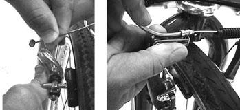 APPENDIX 2 Puncture Repair Replacing a punctured inner tube: Change the rear gear into the smallest sprocket. Open the brake quick release.