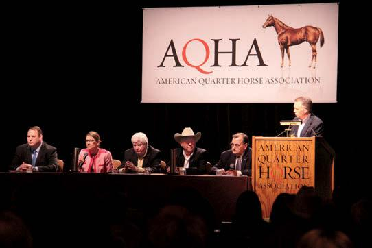 FOCUS ON ANIMAL WELFARE First on the agenda for the 2013 AQHA Convention in Houston was the open members forum, this year devoted to what many consider the No.