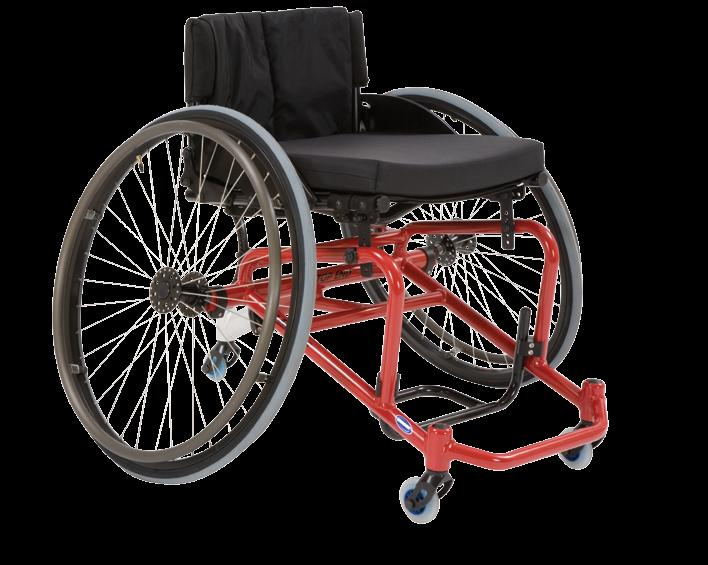 Pro-2 All Sport Wheelchair welded bumper/recessed footrest 2.