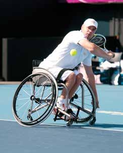 Each Top End T-5 7000 Series Tennis Chair is custom built to each individual athlete's