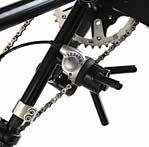 Chain tension idler Full chain guard, reflectors and safety flag Adjustable height/angle
