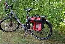 specific bikes. The bikes are equipped with one saddle bag and a speedometer.