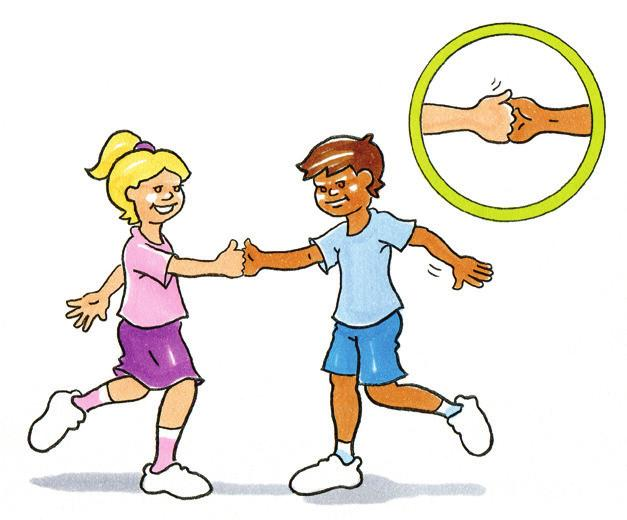BALANCE Thumb War Leg Balance To practise balance in a dynamic activity. Pairs. Players stand on one leg and monkey grip the hand of their partner, with thumbs in the air.