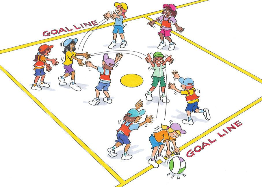 MINOR GAMES Find the Goal Line To practise netball skills in match-like game. Size 4 netballs (or equivalent). Bibs. Groups of 4 5. Two teams work across the centre third.